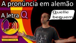 Aprenda a pronúncia da letra Q