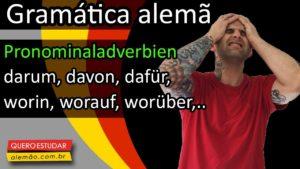 Pronominaladverbien em alemão